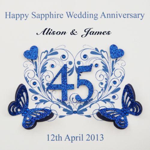 Sapphire Anniversary Card EBay