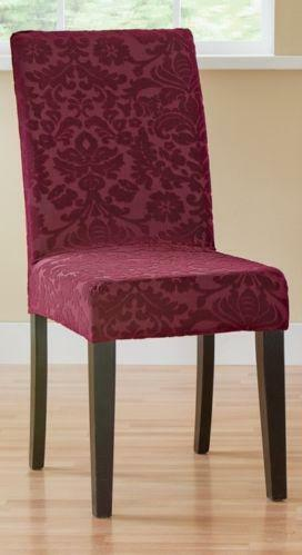 sure fit dining chair covers target coalesse wrapp damask   ebay