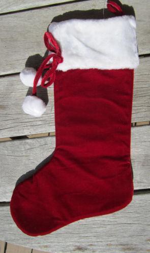 Velvet Christmas Stocking EBay