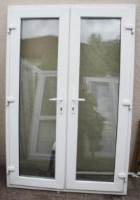Used White Upvc French Doors   eBay