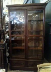 Antique Glass Door Bookcase | eBay