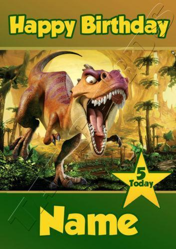 Dinosaur Birthday Card EBay