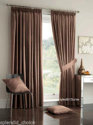Lined Bedroom Curtains  eBay