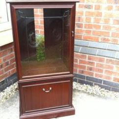 Chair Stand Unit Antique Wooden High With Wheels Hi Fi Cabinet | Ebay