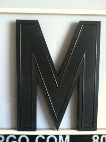 Vintage Letter M: Home Decor
