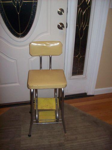 Vintage Step Stool Chair  eBay