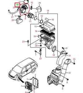 2005 2014 Kia Sedona Air Intake Hose for Throttle Body to