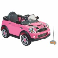 Pink Mini Cooper Ride On Toy Car with remote control ...