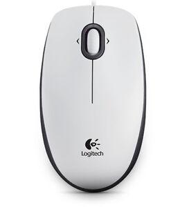 Logitech B100/B110 Maus optisch PC Computer Laptop USB weiß Optical Mouse neu