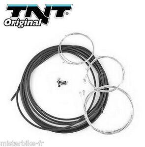 Kit complet 5 cable Noir + gaine 6m gaz starter