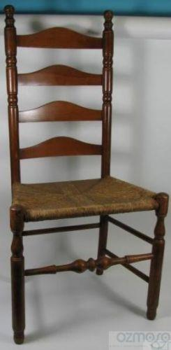antique windsor chairs rustic table and ethan allen ladderback | ebay