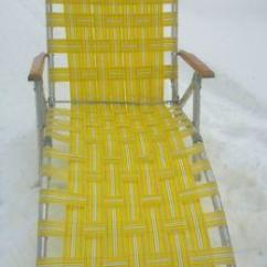 Folding Lawn Chair Fabric Swivel Chairs For Living Room Webbed Aluminum Chaise Lounge | Ebay