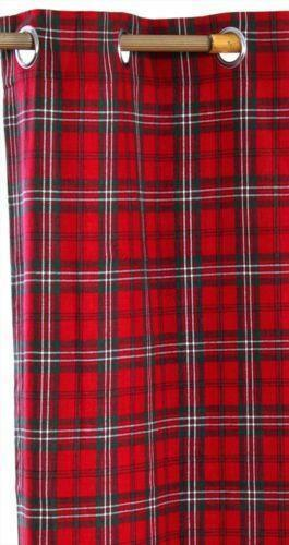 Tartan Ready Made Curtains  eBay