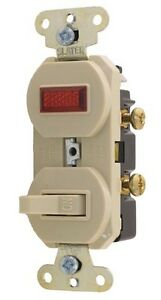 Wall Switch w Indicator Light for Walk in New 42193