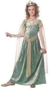 Girls Queen Guinevere Medieval Halloween Costume