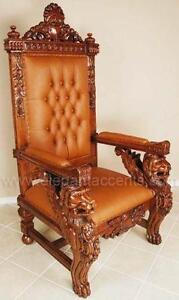 kings chair for sale accent living room chairs throne ebay lion