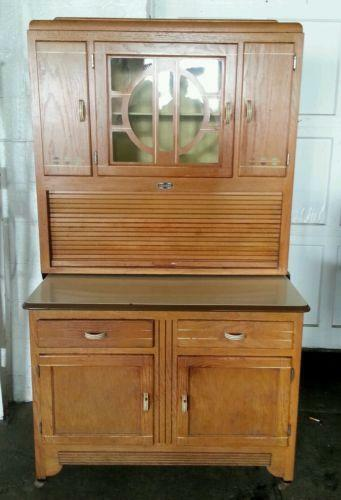 bakers racks for kitchen knobs and pulls sellers cabinet | ebay