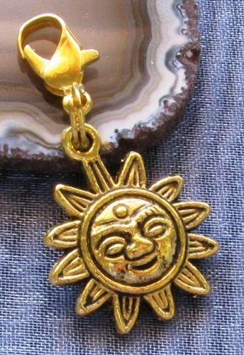 Gold Sun Charm EBay