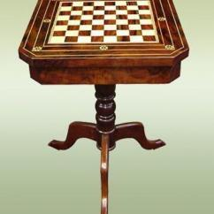 Chess Table And Chairs Chair That Converts To A Twin Bed Antique Ebay