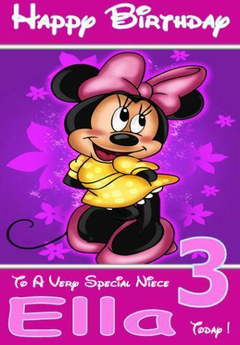 Minnie Mouse Birthday Card EBay