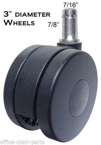 office chair replacement wheels backrest support carpet casters | ebay