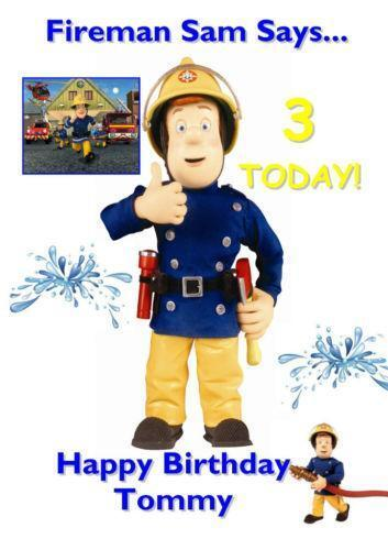 Fireman Sam Birthday Card EBay