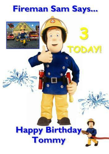 Fireman Sam Birthday Card EBay