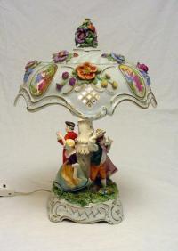 Dresden Porcelain Lamp | eBay