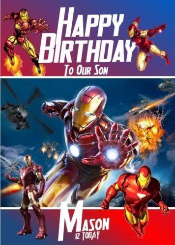 Iron Man Birthday Card EBay