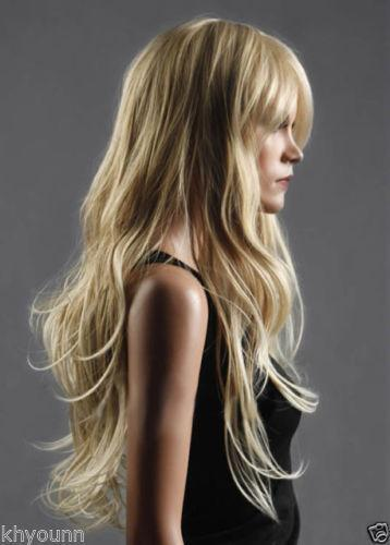 Natural Long Blonde Wig EBay