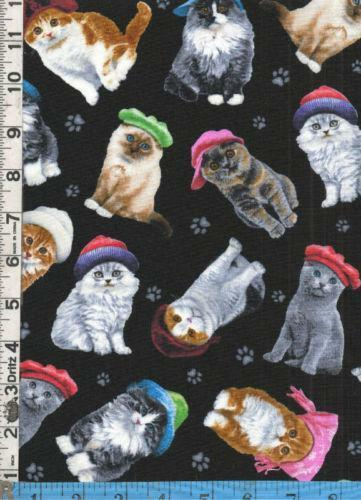Cat Print Fabric EBay