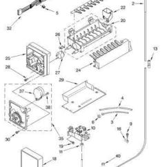 Ge Refrigerator Wiring Diagram Single Phase Motor Star Delta Kenmore Ice Maker Parts   Ebay
