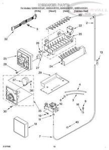 kenmore 106 refrigerator parts diagram 01 jeep wrangler wiring ice maker accessories ebay
