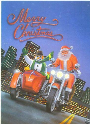 Motorcycle Christmas Cards EBay