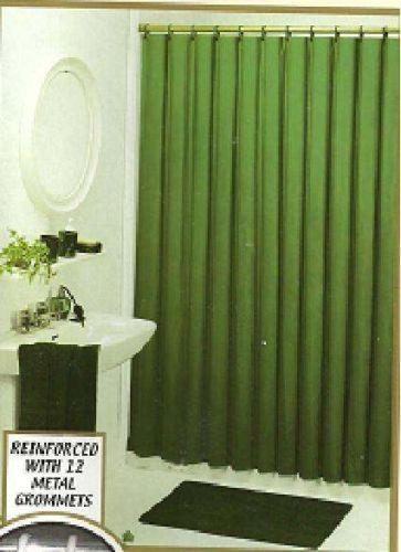 Hunter green shower curtain ebay