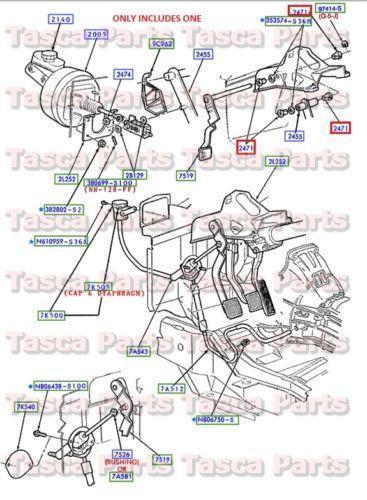 1997 ford f250 parts diagram alto car electrical wiring clutch pedal bushing | ebay