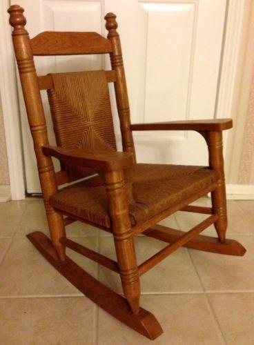 Oak Rocking Chair  eBay