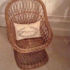 Antique Child Rocking Chair Design Dining Table Childs Wicker | Ebay