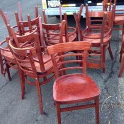 Wooden Restaurant Chairs Hinkle Chair Company Used Ebay