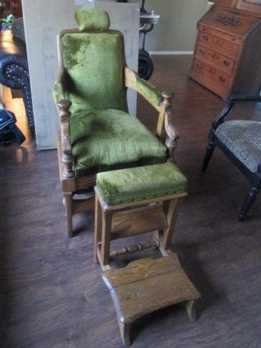 reclining arm chair united medical stool berninghaus barber | ebay