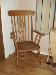 oak farmhouse chairs folding web chair ebay