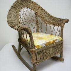 Childs Wooden Rocking Chair Pull Out Chairs Wicker | Ebay