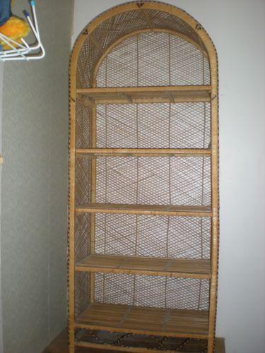 Wicker Shelf Unit Bookcases Shelving  Storage  eBay