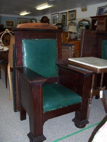Antique Oak High Chair  eBay