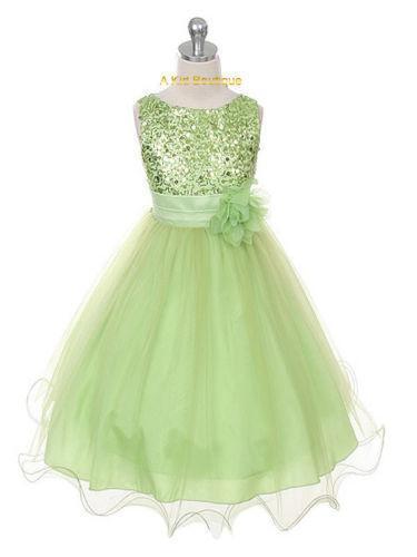 Lime Green Flower Girl Dress
