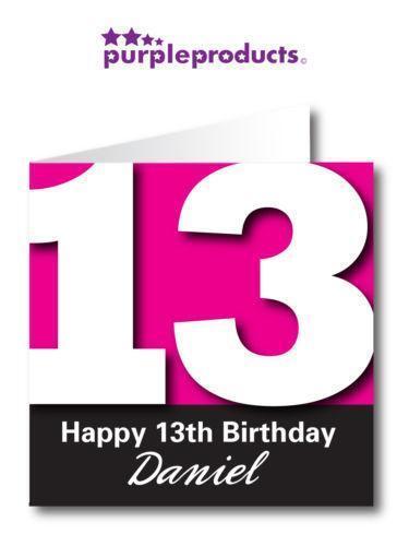 Personalised 13th Birthday Card EBay