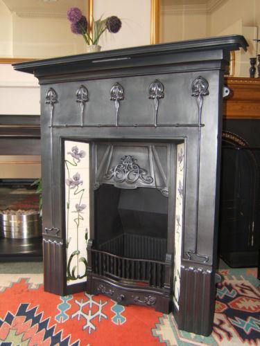 Art Nouveau Fireplace  eBay
