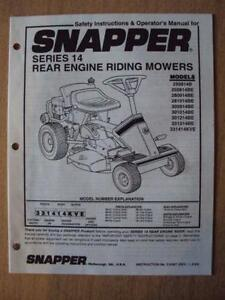John Deere B Wiring Schematic Snapper Riding Mower Ebay