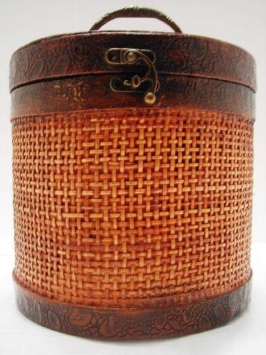 Wicker Basket With Lid EBay