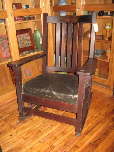 arts and crafts style chair kimball wish stickley rocker: antiques | ebay